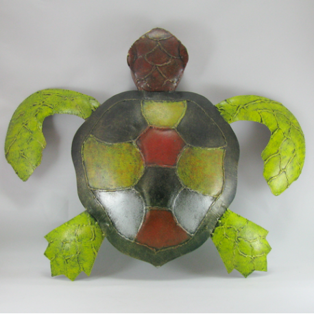 Tortue d coration m tal murale for Tortue decoration