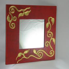 Miroir bois peint