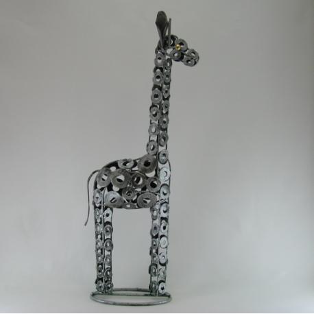 Girafe métal artisanat jardin maison