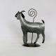 Porte crayon et photo Chèvre métal