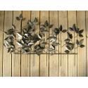 Décor jardin feuillage-réalisation artisanale en métal