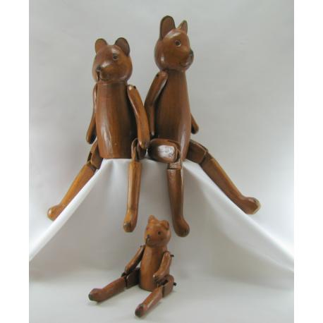 Ourson bois 35cm artisanat