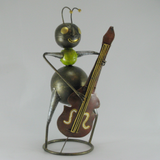 Fourmi contrebassiste artisanat métal
