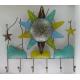 Porte-manteaux mural soleil étoile métal