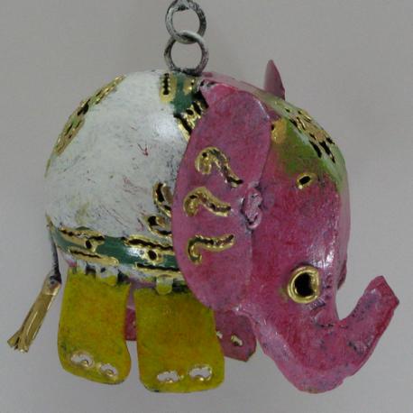 Eléphant à suspendre métal
