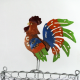 Petit panier coq mural métal
