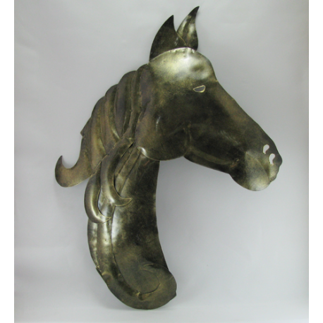 Décor mural cheval métal