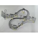 Décor mural musical -réalisation artisanale en métal