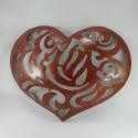 Décor mural coeur -réalisation artisanale en métal