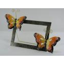 Cadre photo papillon artisanat métal