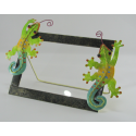 Cadre photo salamandre artisanat métal