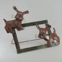 Cadre photo chien artisanat métal