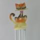 Carillon chat metal artisanat maison jardin