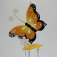 Carillon papillon metal artisanat maison jardin