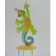 Carillon salamandre metal artisanat maison jardin