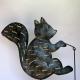 Cloche murale écureuil métal fait-main