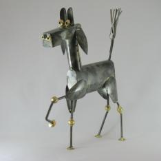 Cheval métal artisanat jardin maison