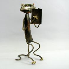 Chat livre artisanat métal