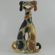 Duo chien artisanat bois