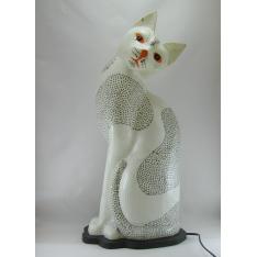 Lampe résine chat