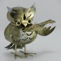 Hibou violon artisanat métal