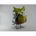 Hibou livre métal artisanat maison