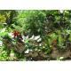 Décor jardin coq et feuillage-réalisation artisanale en métal