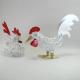 Duo Coq poule métal artisanat maison