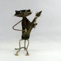 Chat guitare artisanat métal