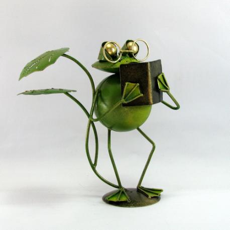 Grenouille livre artisanat métal