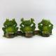 Bougeoir 3 grenouilles de la sagesse métal