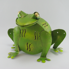Tirelire grenouille en métal