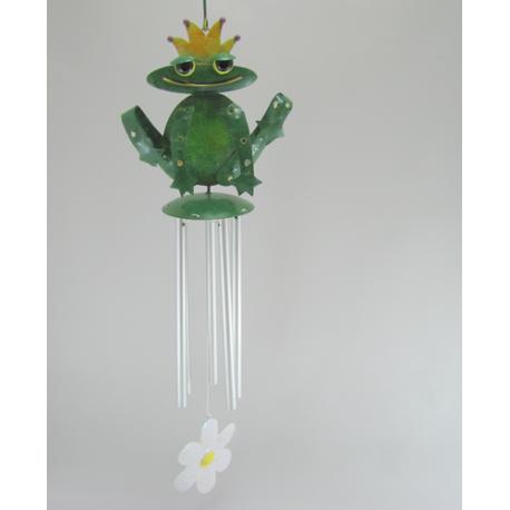 Carillon grenouille metal artisanat maison jardin