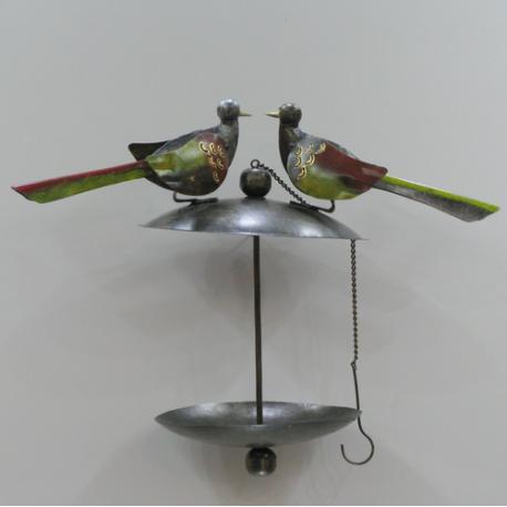 Mangeoire pour oiseaux en métal