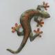 Décor mural salamandre 45cm métal