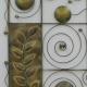 Décor mural abstrait -réalisation artisanale en métal