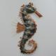 Décor mural hypocampe -réalisation artisanale en métal
