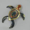 Décor mural tortue métal