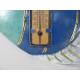 Thermomètre mural poisson métal