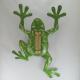 Thermomètre mural grenouille métal