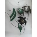Décor mural 3 tortues métal