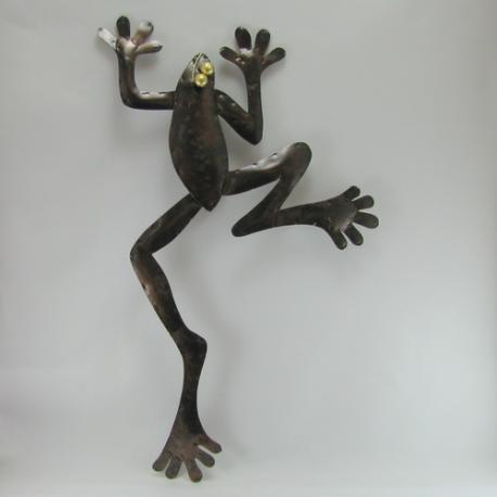 Décor mural grenouille -réalisation artisanale en métal