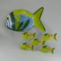 Décor mural poissons -réalisation artisanale en métal