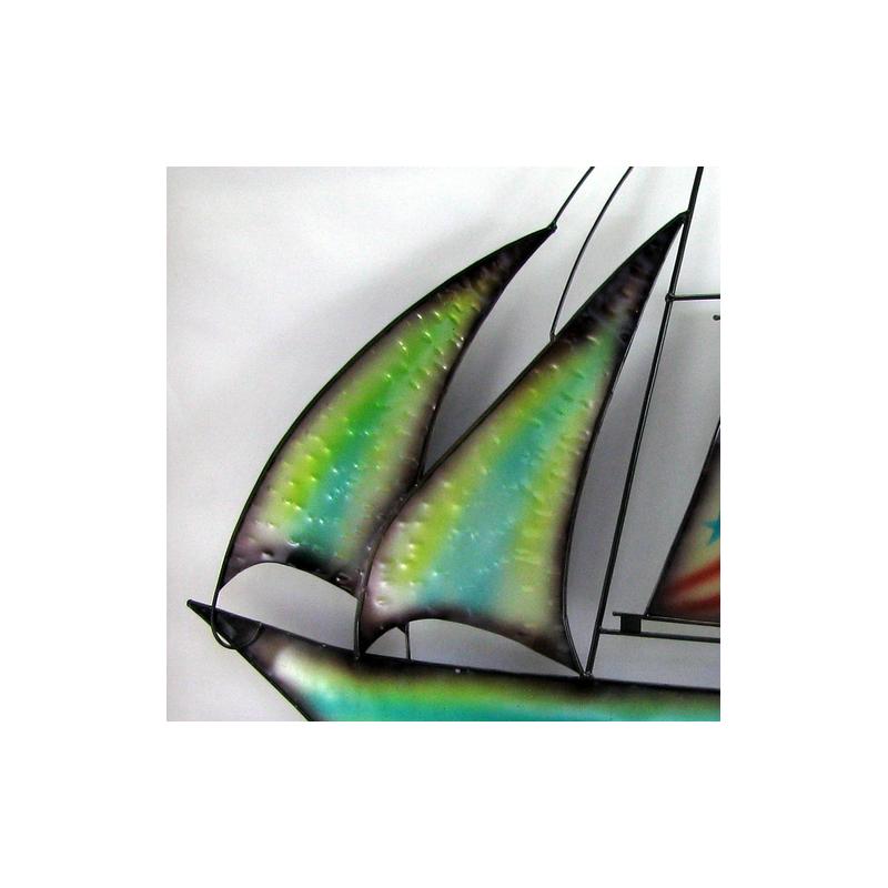D cor mural bateau r alisation artisanale en m tal for Decoration murale exterieur en metal