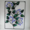 Décor mural floral-réalisation artisanale en métal