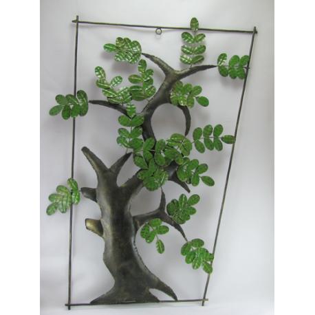 Décor mural arbre-réalisation artisanale en métal