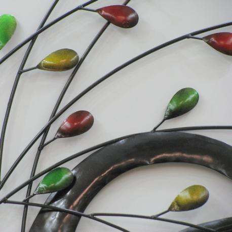 Décor mural branche -réalisation artisanale en métal