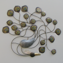 Décor mural design paon -réalisation artisanale en métal