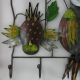 Porte-manteaux mural 3 hiboux métal