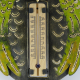 Thermomètre mural hibou métal
